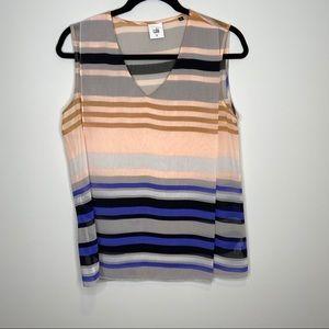 CAbi multicolor sleeveless blouse Sz M